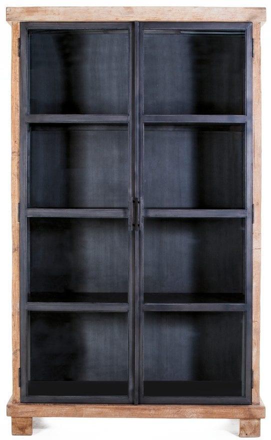Eleonora Geneve Vitrinekast Teak/Metaal - 2 deurs - 22560 - Löwik Meubels