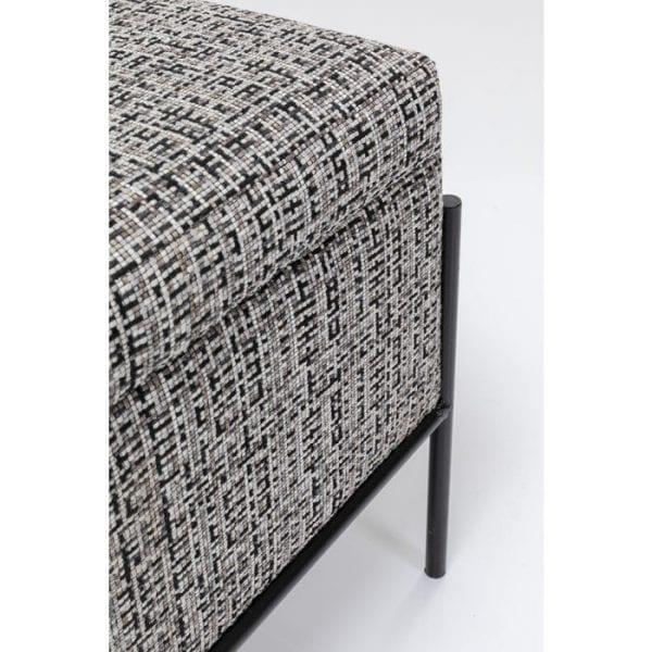 Kare Design Buttons Storage B&W bench 85051 - Lowik Meubelen