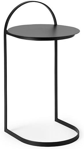 Garcon bijzettafel zwart ijzer black bijzettafel in de kleur zwart Ø35x65(h) Feelings Lowik Meubelen