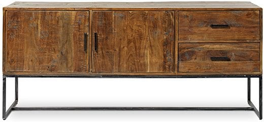 Ibiza dressoir 2 deuren - 2 laden forrest - antique Dressoirs Feelings Lowik Wonen & Slapen