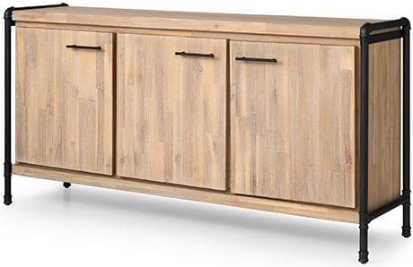 Maud dressoir 3 laden Maud 058 dressoir van acaciahout 160x42x80(h) Feelings Lowik Meubelen