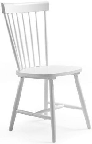 Tempo eetkamerstoel van Feelings, retro stijl stoel in gelakt wit hout