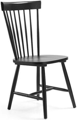 Tempo eetkamerstoel van Feelings, retro stijl stoel in gelakt zwart hout