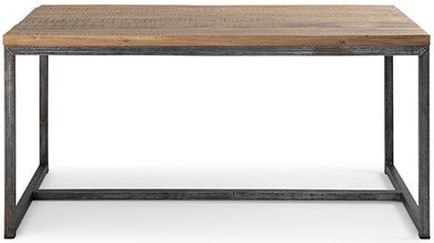 Elba eettafel Elba 048 eettafelvan acaciahout met een metalen frame 160x80x77(h) Feelings Lowik Meubelen