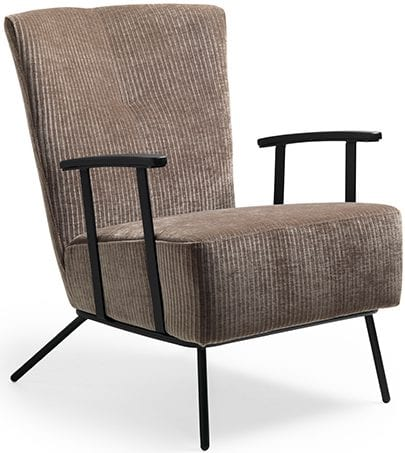 Abby fauteuil stof bodega (C) 12 taupe  Feelings Lowik Meubelen