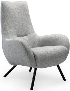 Callisto fauteuil stof brema (B) 40 ash grey  Feelings Lowik Meubelen