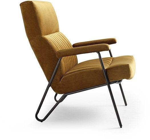 Fauteuil Floris, retro stijl fauteuil uit de Feelings collectie in velours stof - Eleonora William fauteuil