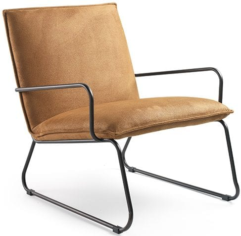 Lloyd fauteuil cognac stof touareg cognac Fauteuil Lloyd bekleed met destof touareg. In diverse kleuren leverbaar. Feelings Lowik Meubelen