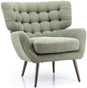 Paxton fauteuil stof sfinx groen Feelings Lowik Meubelen