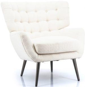 Paxton fauteuil, stijlvolle retro stijl fauteuil in een hedendaags jasje! Uit de Feelings stoelen collectie. Uitgevoerd in stof Sfinx wit. Afmeting: 84x84x85 cm. Tevens leverbaar in groen en zwart.
