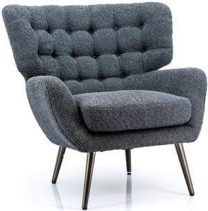 Paxton fauteuil, stijlvolle retro stijl fauteuil in een hedendaags jasje! Uit de Feelings stoelen collectie. Uitgevoerd in stof Sfinx zwart. Afmeting: 84x84x85 cm. Tevens leverbaar in wit en groen.
