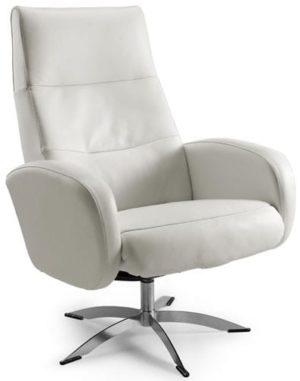 Vox relaxfauteuil wit  relaxfauteuil, het zit- en rugdeel is bekleed met madras/skai leer. In diverse kleuren leverbaar. Feelings Lowik Meubelen