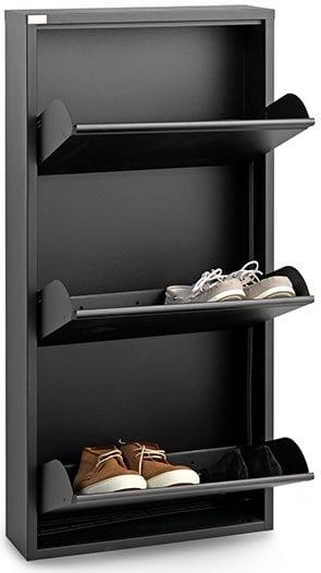 Billy schoenenkast Metaal zwart Schoenenkast Billy50x15x103(h) Feelings Lowik Meubelen