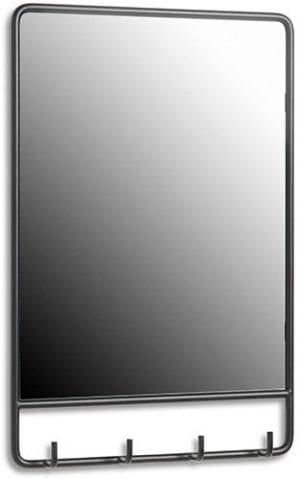Clint spiegel Metaal zwart spiegel 40x6x60(h) Feelings Lowik Meubelen