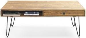 Trix salontafel. Uit de Feelings salontafels collectie. Uitgevoerd in sheesham stone finish. Afmeting: (bxdxh)117x60x40 cm.