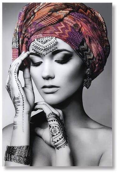 Wanddecoratie vrouw met hoofddoek Wanddecoraties en spiegels Feelings Lowik Meubelen