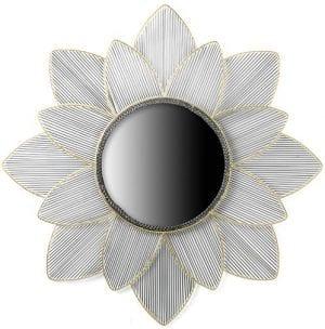 Flower spiegel Metaal goud / zinc Spiegel Flower 100x100 Feelings Lowik Meubelen