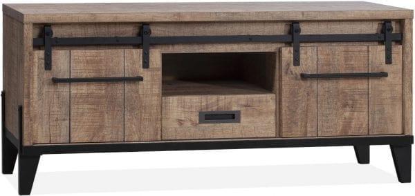 Vigo tv-meubel uitgevoerd in Lamulux Mango - Camino Feelings