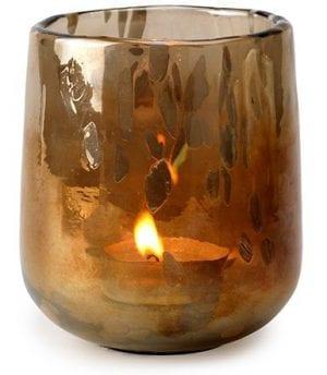 Annecy theelichthouder Glas aged gold lustre  Feelings Lowik Meubelen
