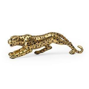 Cheetah poly zwart-ant.goud  Feelings Lowik Meubelen