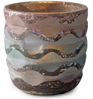 Fresca theelichthouder glass antique silver Theelichthouder Fresca van glas. Feelings Lowik Meubelen