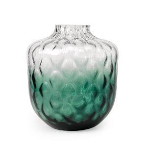 Nori vaas glass clear+green  Feelings Lowik Meubelen