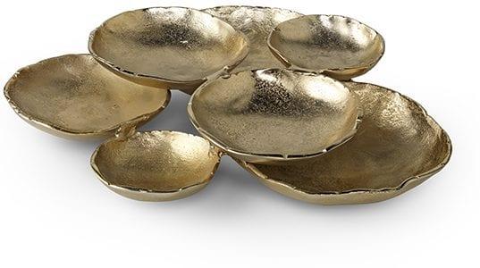 Pearl schaal New Arrival gold Schaal Pearl 53x47x10(h) Feelings Lowik Meubelen