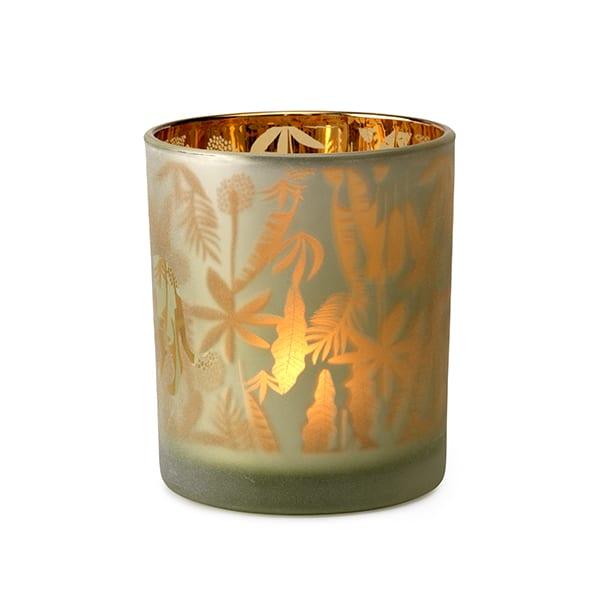 Safari windlicht 10(h) 2ass Glas donkerbruin  Feelings Lowik Meubelen