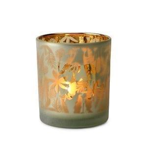 Safari windlicht 6(h) 2ass Glas donkerbruin  Feelings Lowik Meubelen