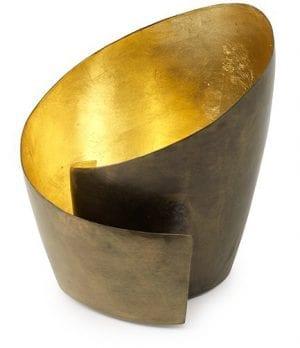 Spiral theelicht brass antic  Theelicht Spiral 17x17x16 Feelings Lowik Meubelen