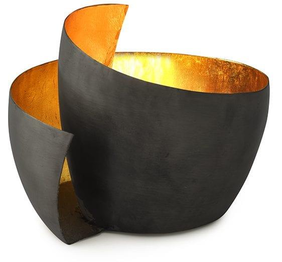 Spiral theelicht small copper inside  <p>Theelicht Spiral small 15x13x11</p> Feelings Lowik Meubelen