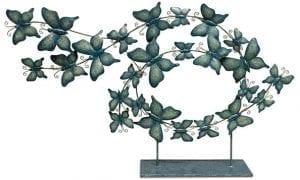 Vlinders op voet Metaal blue Vlinders op voet 85x12x53 Feelings Lowik Meubelen