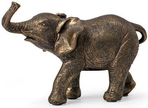 Zambezi olifant poly grijs-goud  Feelings Lowik Meubelen
