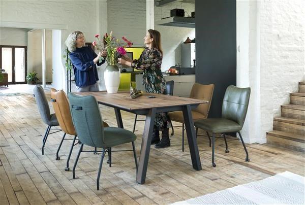 Jacqueline, armstoel - zwart frame - 3 kleuren Rocky + greep JACQUELINE ARMCHAIR 36826OBL Henders & Hazel Lowik Wonen & Slapen