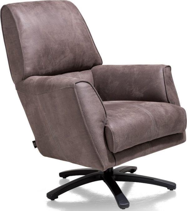 Patraci, fauteuil met draaivoet PATRACI FAUTEUIL - stof Rocky lava - 40290001 Henders & Hazel Lowik Wonen & Slapen