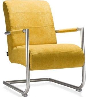 Angelica fauteuil, moderne fauteuil met rvs frame uit de Henders & Hazel collectie