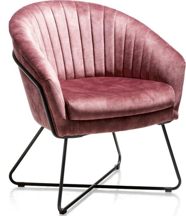 Cayenne, fauteuil met metalen frame recht CAYENNE ARMCHAIR 42996BRE Henders & Hazel Lowik Wonen & Slapen