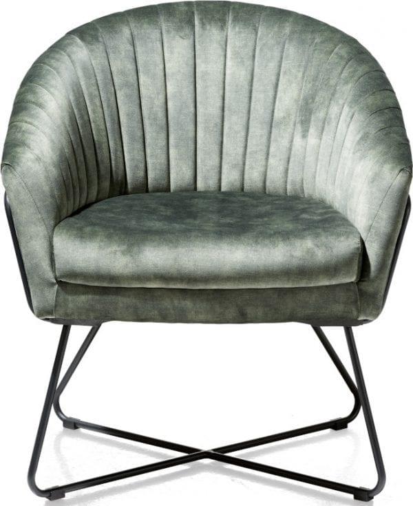 Cayenne, fauteuil olijf met metalen frame recht CAYENNE ARMCHAIR 42996OLI Henders & Hazel Lowik Wonen & Slapen
