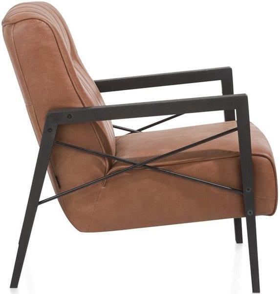 Fauteuil Northon in leder, retro fauteuil uit de Henders & Hazel collectie