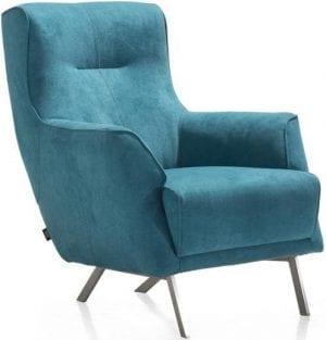 Roskilde fauteuil in stof Monta petrol - Henders & Hazel
