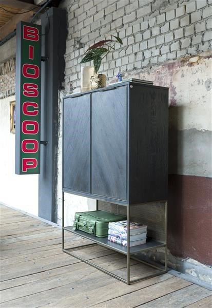 City, highboard 100 cm. - 2-deuren + 1-niche (+ LED) CITY CABINET 40945RWB Henders & Hazel Lowik Wonen & Slapen