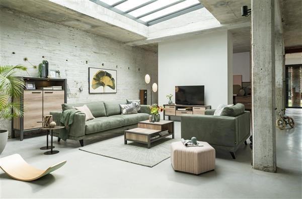 Copenhagen, highboard 110 cm - 2-deuren + 1-lade + 2-niches (+ led) COPENHAGEN CABINET 40606NAT Henders & Hazel Lowik Wonen & Slapen