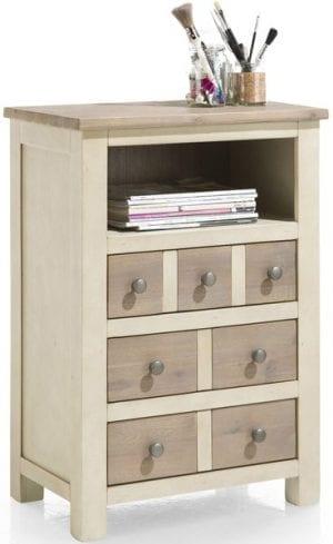 Le Port meubels, landelijk wit woonprogramma in acacia hout - Henders & Hazel