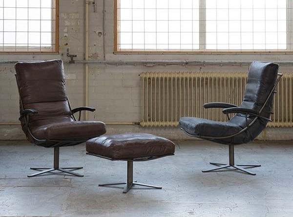 Tiberius fauteuil van Het Anker, robuuste stoel met industriële details