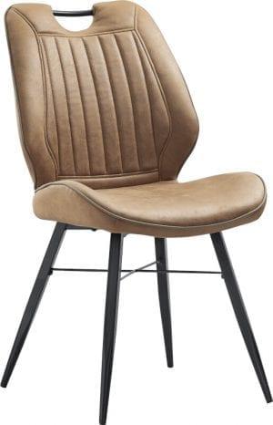 Quora eetstoel, retro design stoel van INHouse in stof Soft cognac