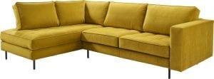 Hoekbank Delphi, comfortabele loungebank IN.House meubelen - stof Seven 23 oker