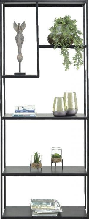 Wandrek Industrial uitgevoerd in zwart metaal - IN.House kasten collectie