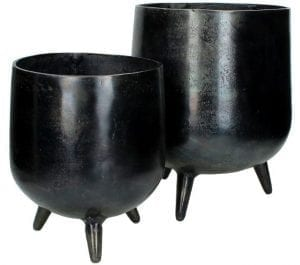planter aluminium black l Woonaccessoire IN.HOUSE Accessoires Lowik Meubelen