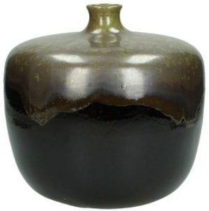 vaas stoneware groen Woonaccessoire IN.HOUSE Accessoires Lowik Meubelen