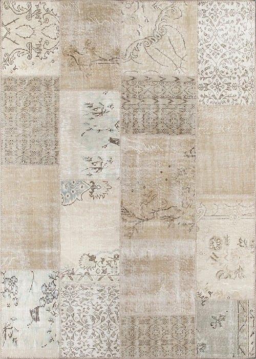 Vloerkleed Patch Collection - 1 - 011 Nieuw - Handgeknoopt Patchwork-tapijt. Samenstelling: 50% wol + 50% katoen. Rug (gelijmd en genaaid): 100% katoen. Indien niet in voorraad is de levertijd circa 5 weken. Maatwerk mogelijk.